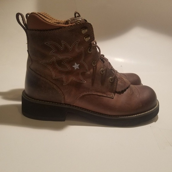 0d537ed99aa 🤯 3/$40 Ariat P Lacer Driftwood Brown Leather
